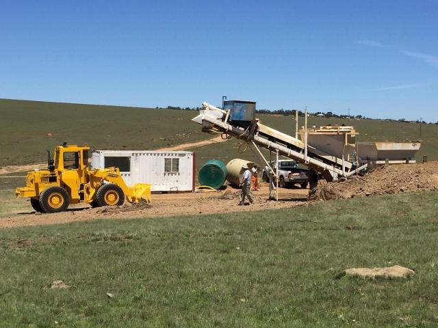 Setting Up Mobile Batch Plant in Cala, Eastern Cape for a RDP Housing contract